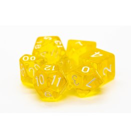 Old School Dice 7 Translucent Yellow