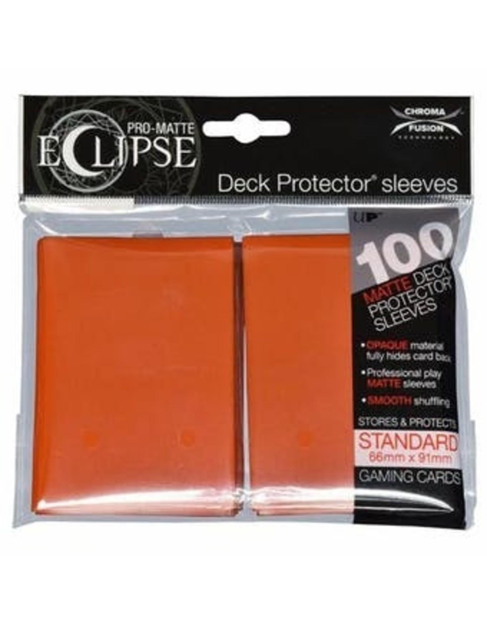 Pro-Matte Eclipse 2.0 Standard Deck Protector Sleeves: Pumpkin Orange (100)