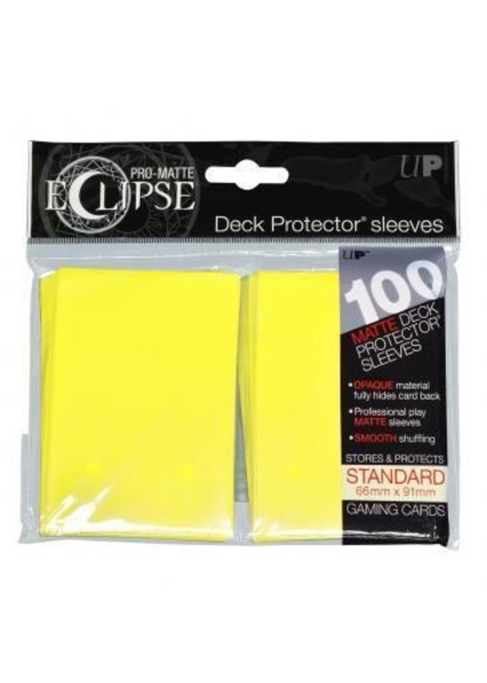 Pro-Matte Eclipse 2.0 Standard Deck Protector Sleeves: Lemon Yellow (100)