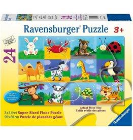 Puzzle: Animal Adventures 24 pc Floor Puzzles