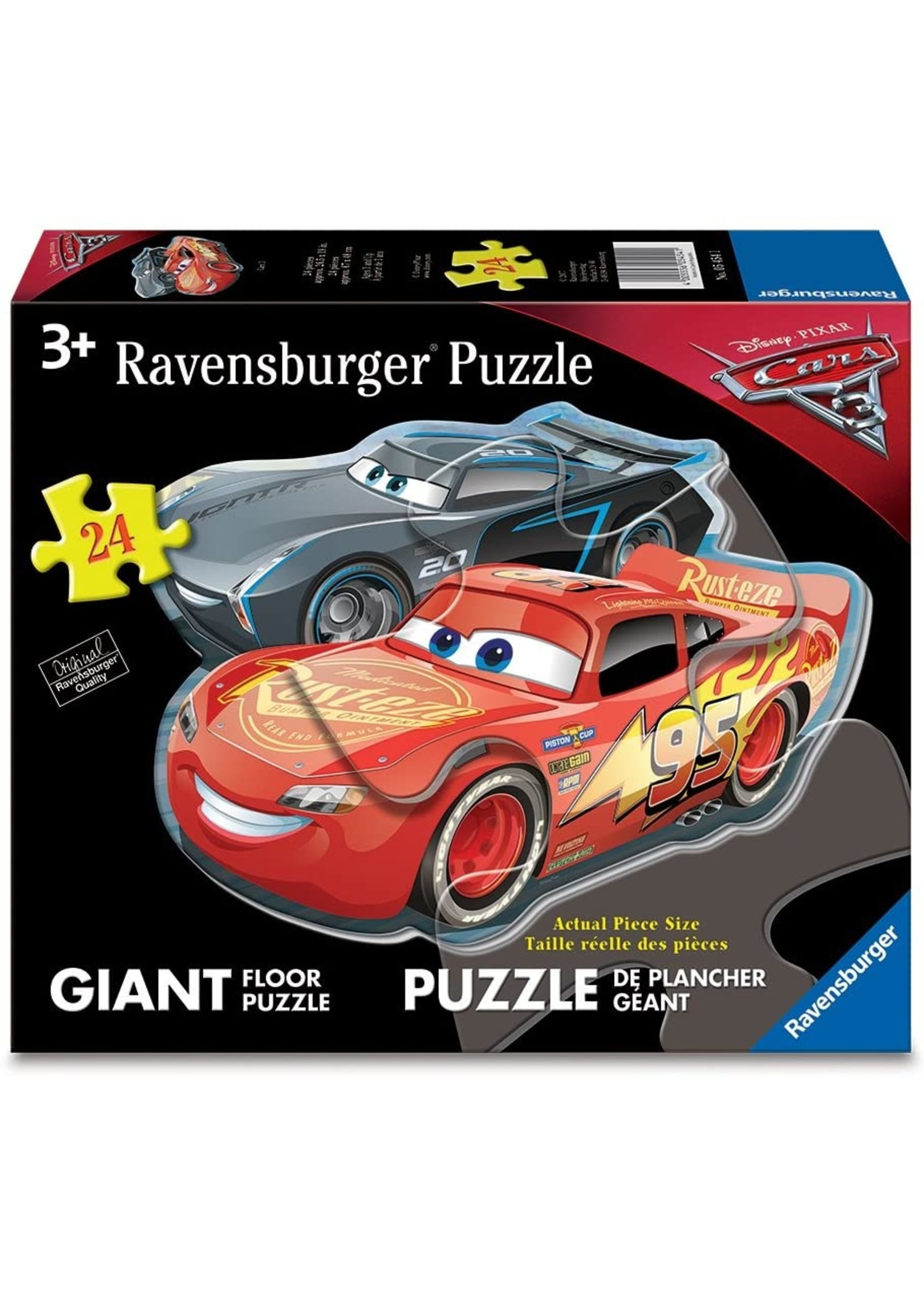 Puzzle: Dueling Cars (24 pc Shaped Floor)