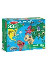 Puzzle: World Map Floor (33 pc)
