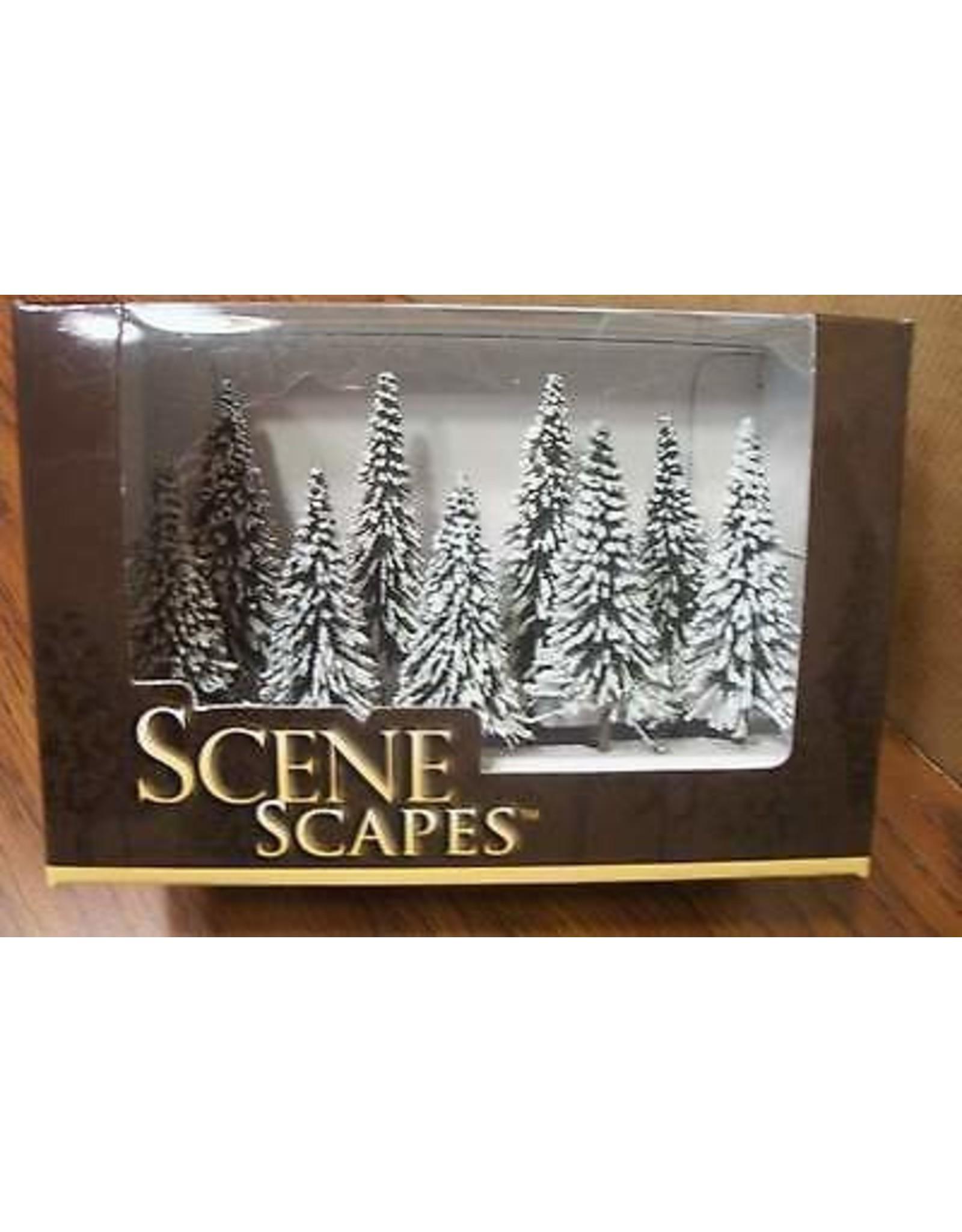 Scenescapes Pine Trees w/Snow, 3-4'' (9)