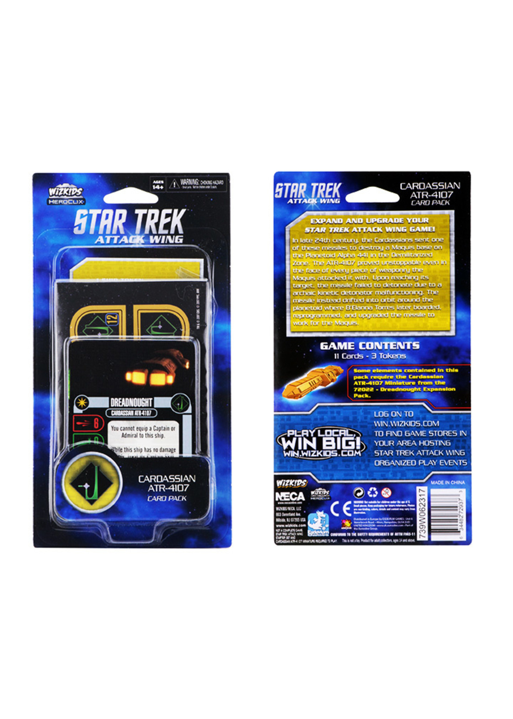 Star Trek Attack Wing: Cardassian ATR-4107 Card Pack Wave 1