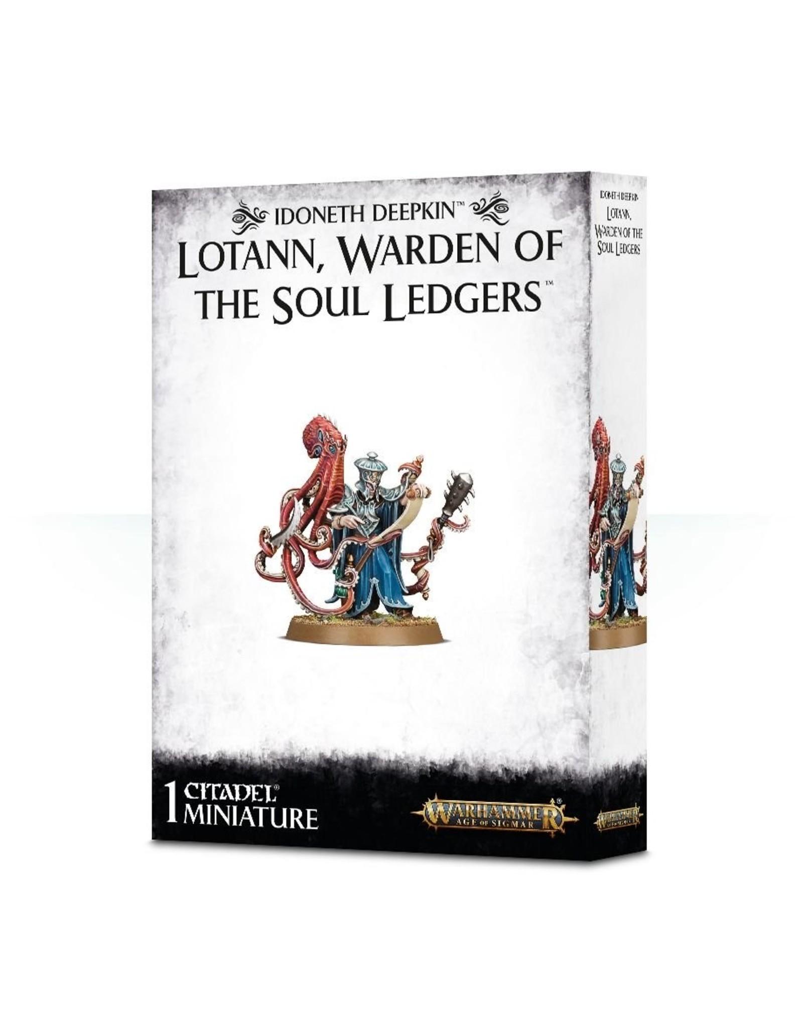 Warhammer Age of Sigmar: Order Idoneth Deepkin Lotann Warden of the Soul Ledgers