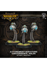 Warmachine: Convergence of Cyriss Attunement Servitors Solos (3)(White Metal)