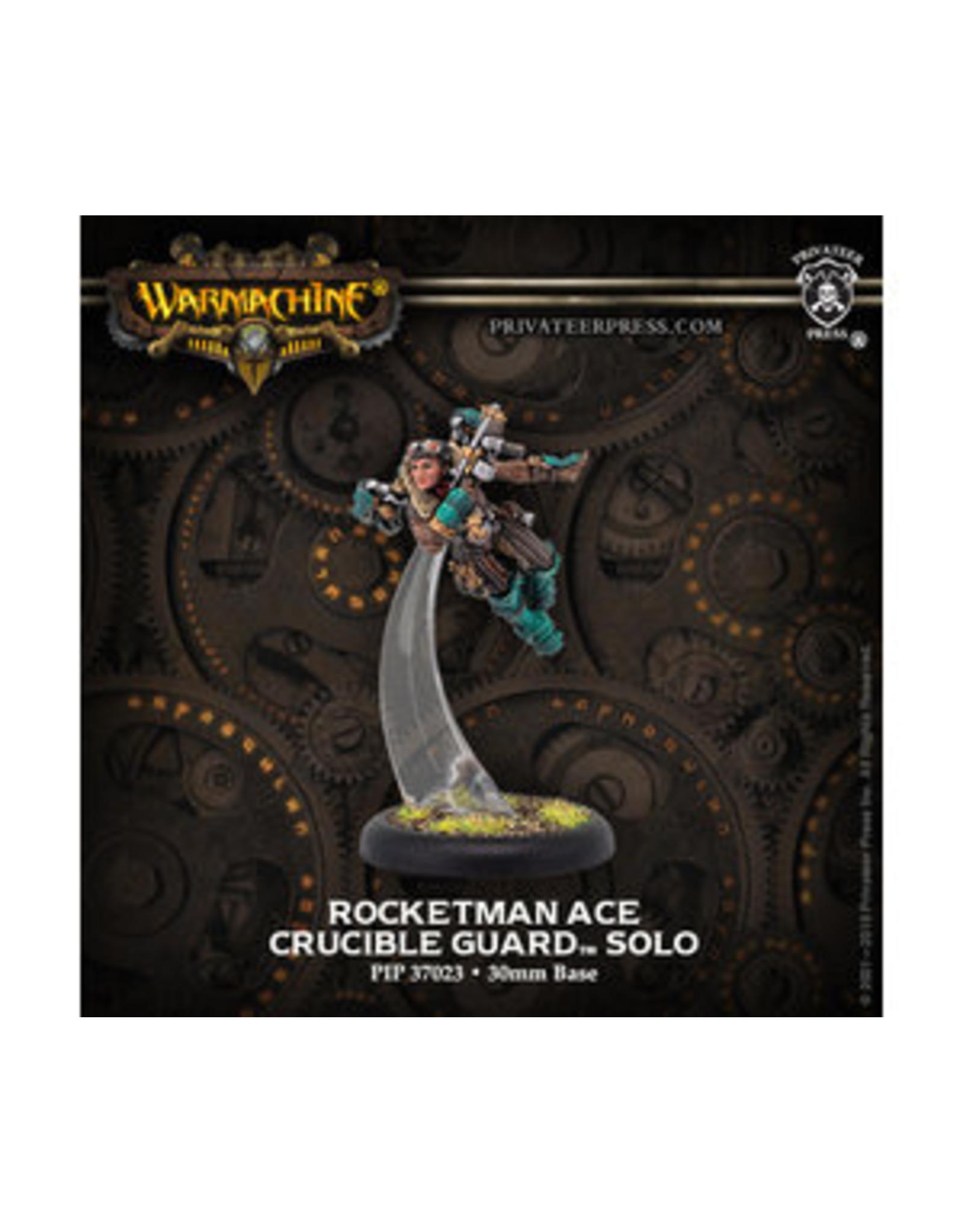 Warmachine: Crucible Guard Rocketman Ace Solo (White Metal)