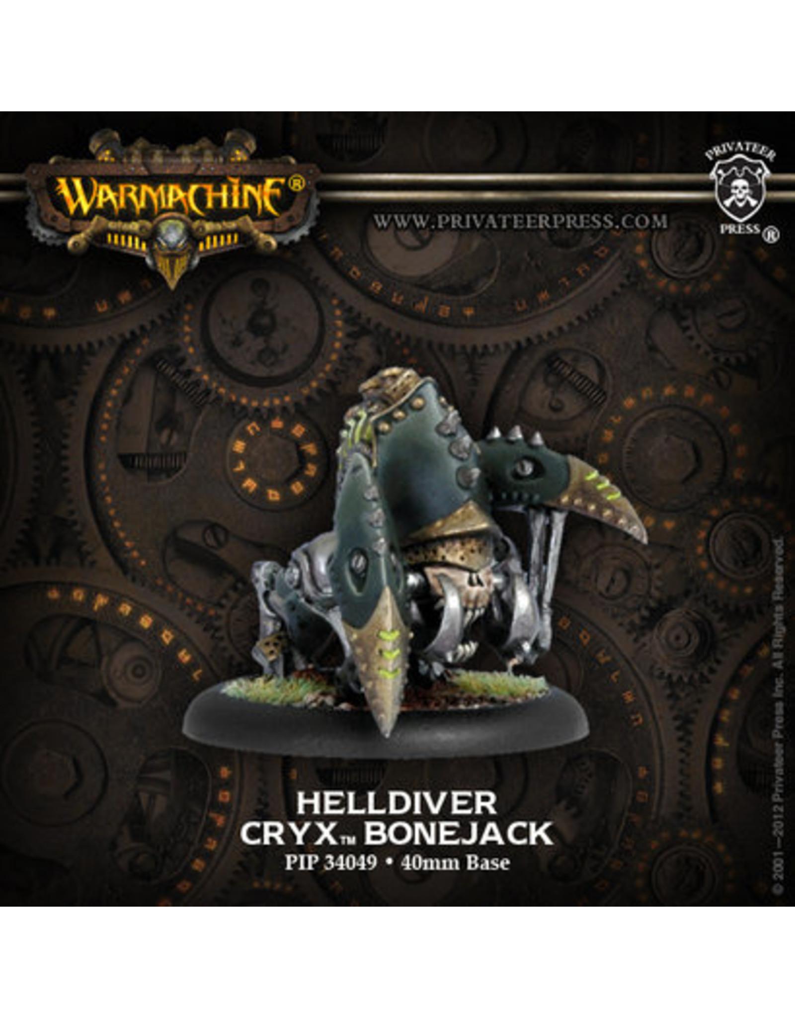 Warmachine: Cryx Helldiver Bonejack (White Metal)