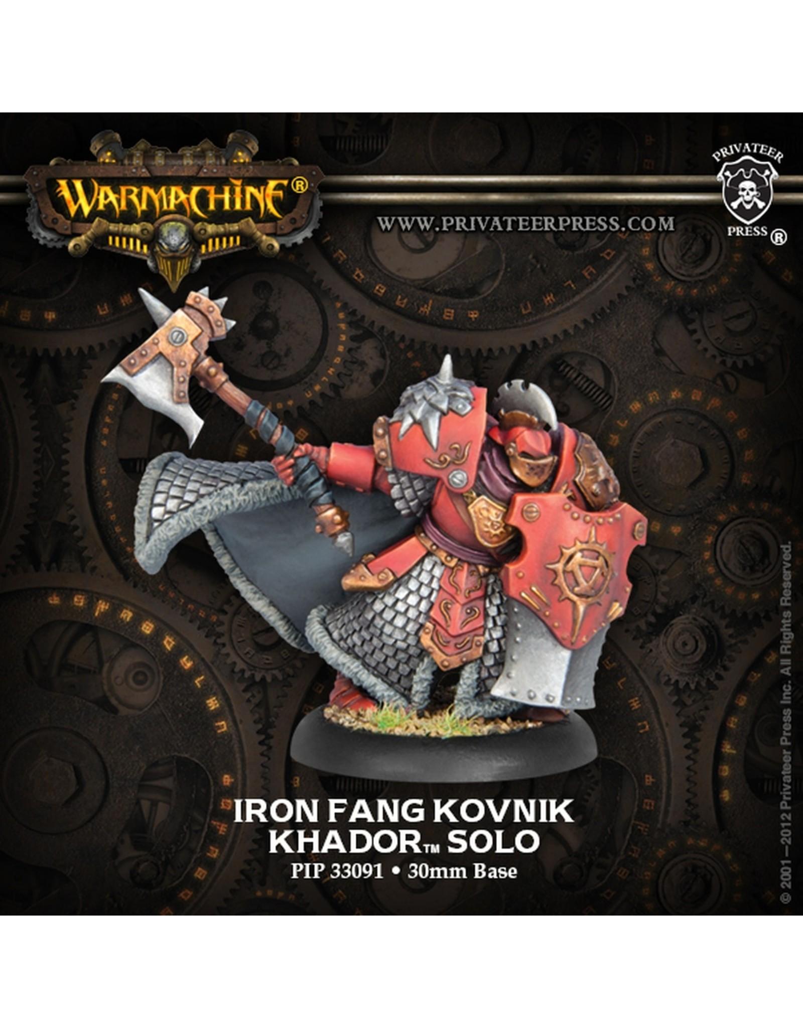 Warmachine: Khador Iron Fang Kovnik Solo (White Metal)