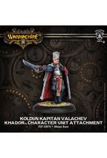 Warmachine: Khador Koldun Kapitan Valachev Character Unit Attachment (White Metal)