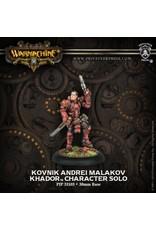 Warmachine: Khador Kovnik Andrei Malakov Character Solo (White Metal)