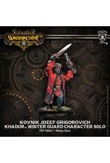 Warmachine: Khador Kovnik Jozef Grigorovich Winter Guard Character Solo (White Metal)