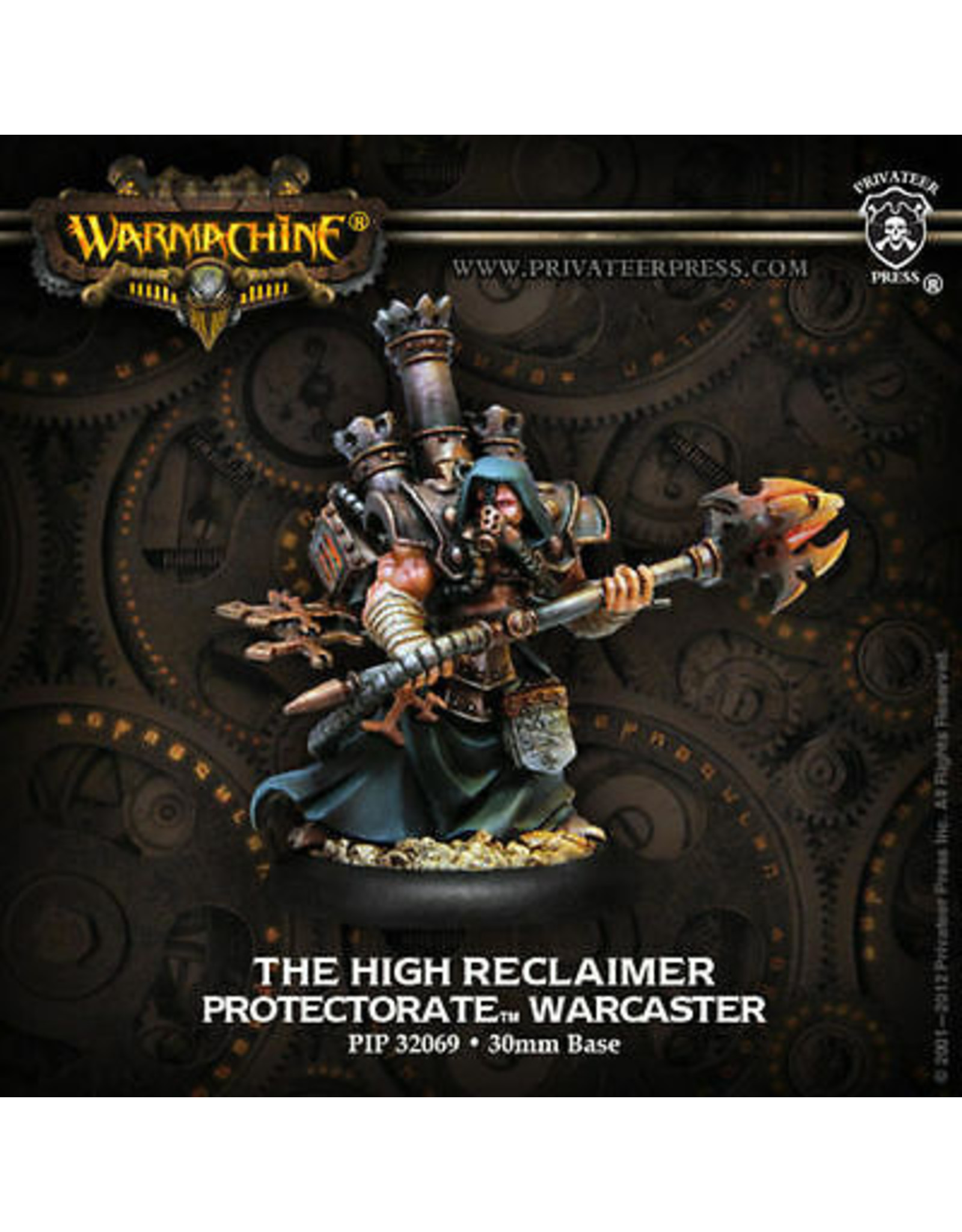 Warmachine: The Protectorate of Menoth The High Reclaimer Warcaster (White Metal)