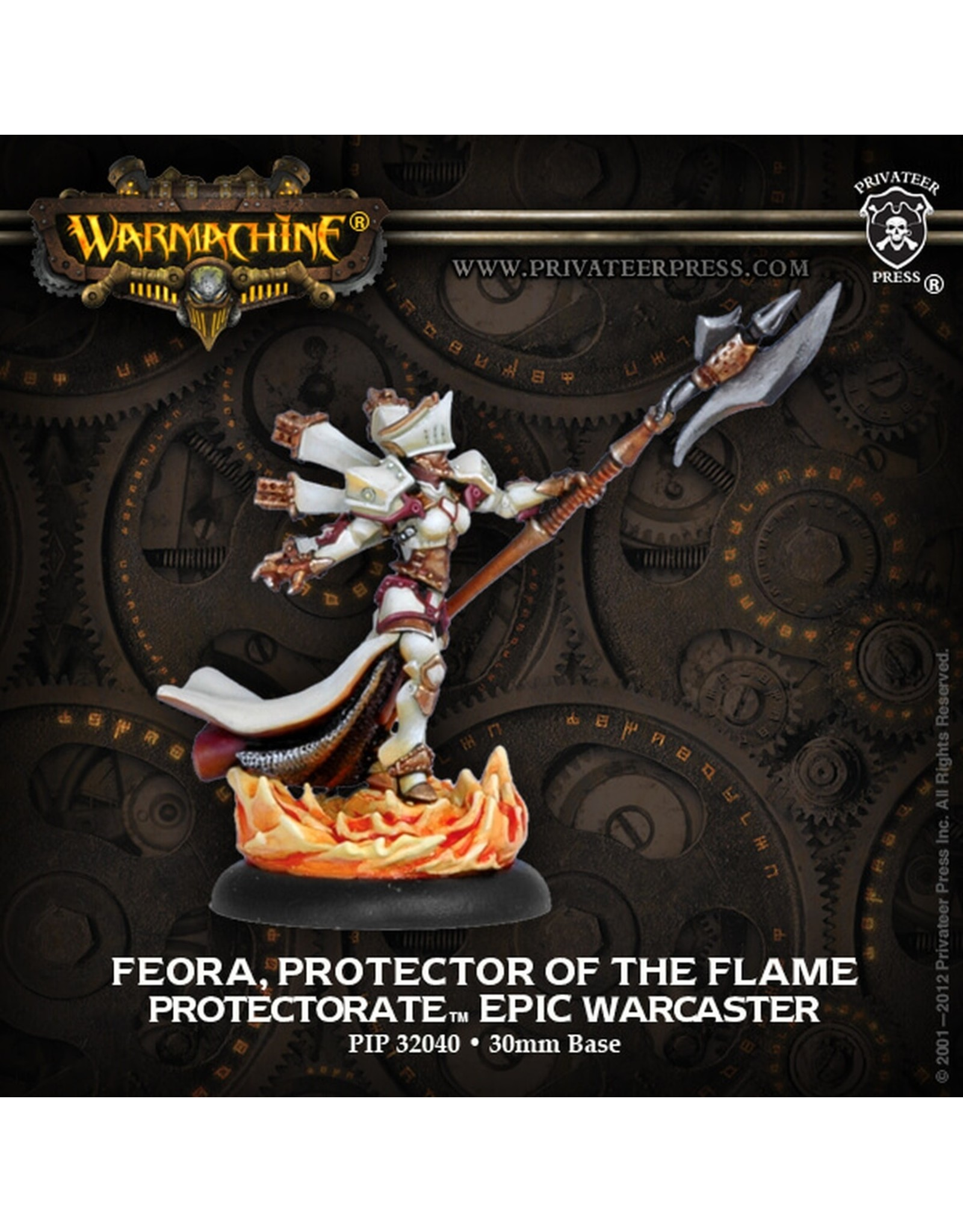 Warmachine: The Protectorate of Menoth Feora, Protector of the Flame Epic Warcaster (White Metal)