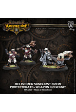 Warmachine: The Protectorate of Menoth Deliverer Sunburst Crew Weapon Crew Unit (White Metal)