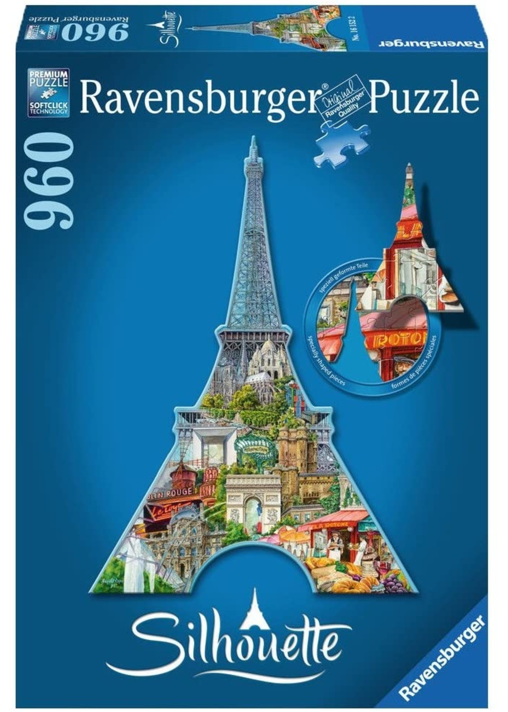 Puzzle: Silhouette Eiffel Tower