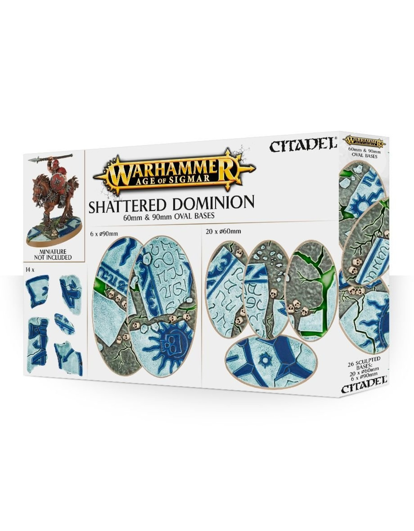 Warhammer Age of Sigmar: Shattered Dominion 60mm & 90mm Oval Bases