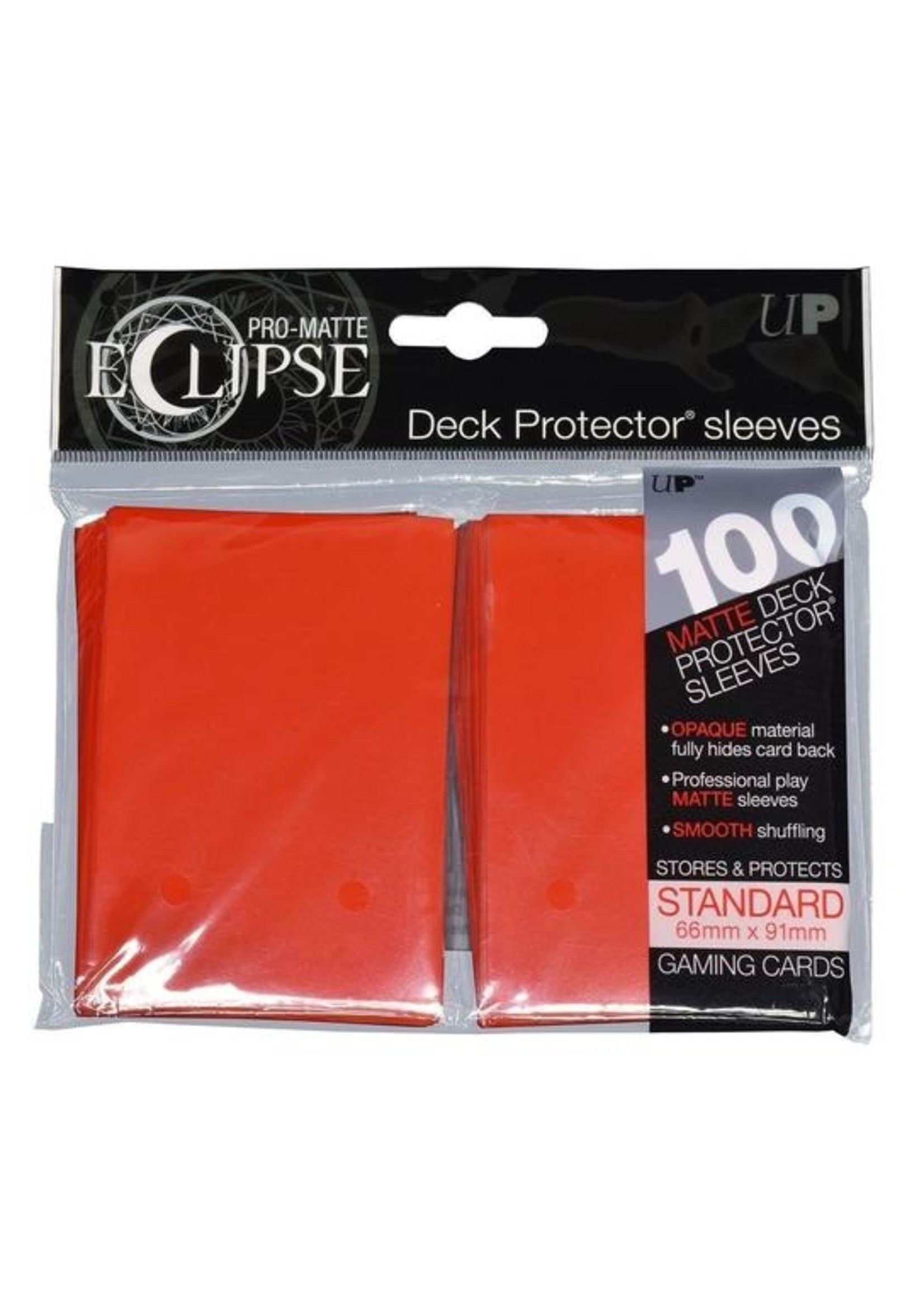 Pro-Matte Eclipse 2.0 Standard Deck Protector Sleeves: Apple Red (100)