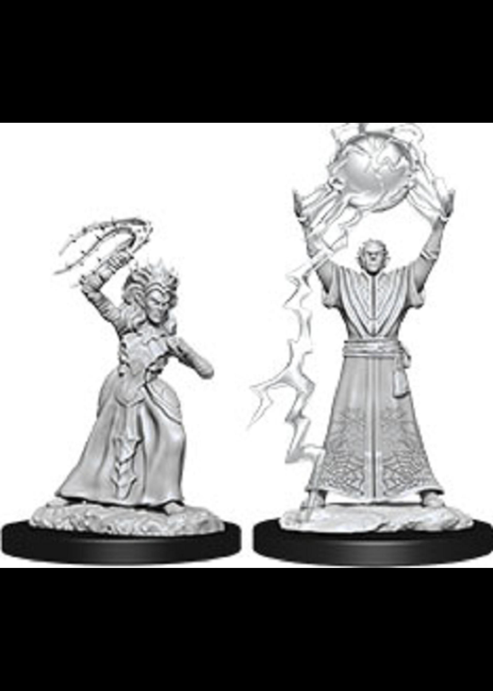 Dungeons & Dragons Nolzur`s Marvelous Unpainted Miniatures: W12 Drow Mage & Drow Priestess