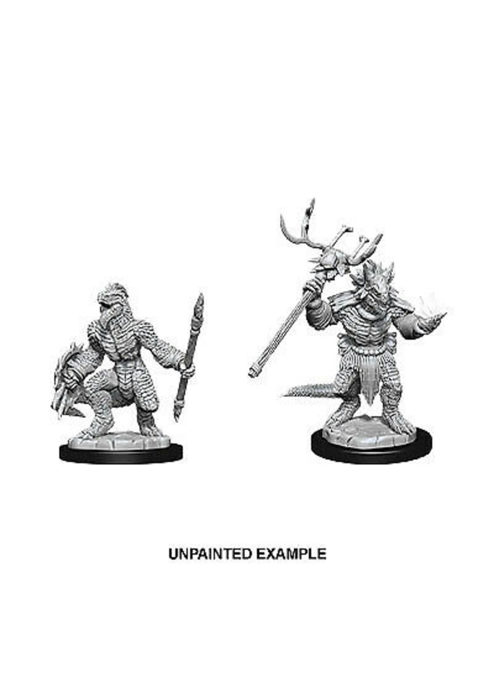 Dungeons & Dragons Nolzur`s Marvelous Unpainted Miniatures: W12 Lizardfolk & Lizardfolk Shaman