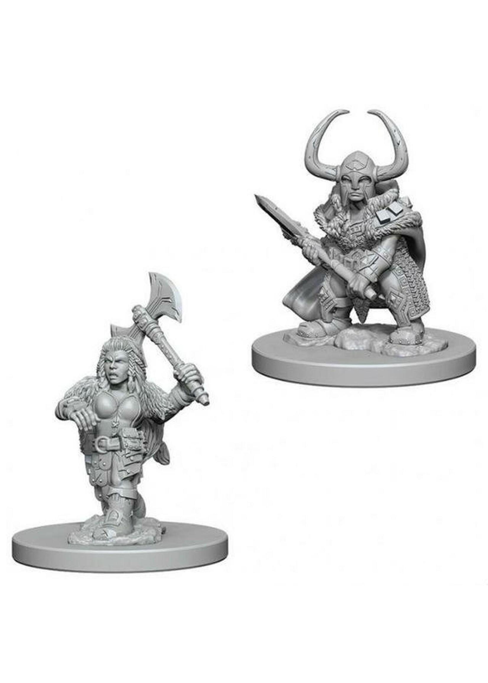 Dungeons & Dragons Nolzur`s Marvelous Unpainted Miniatures: W4 Dwarf Female Barbarian
