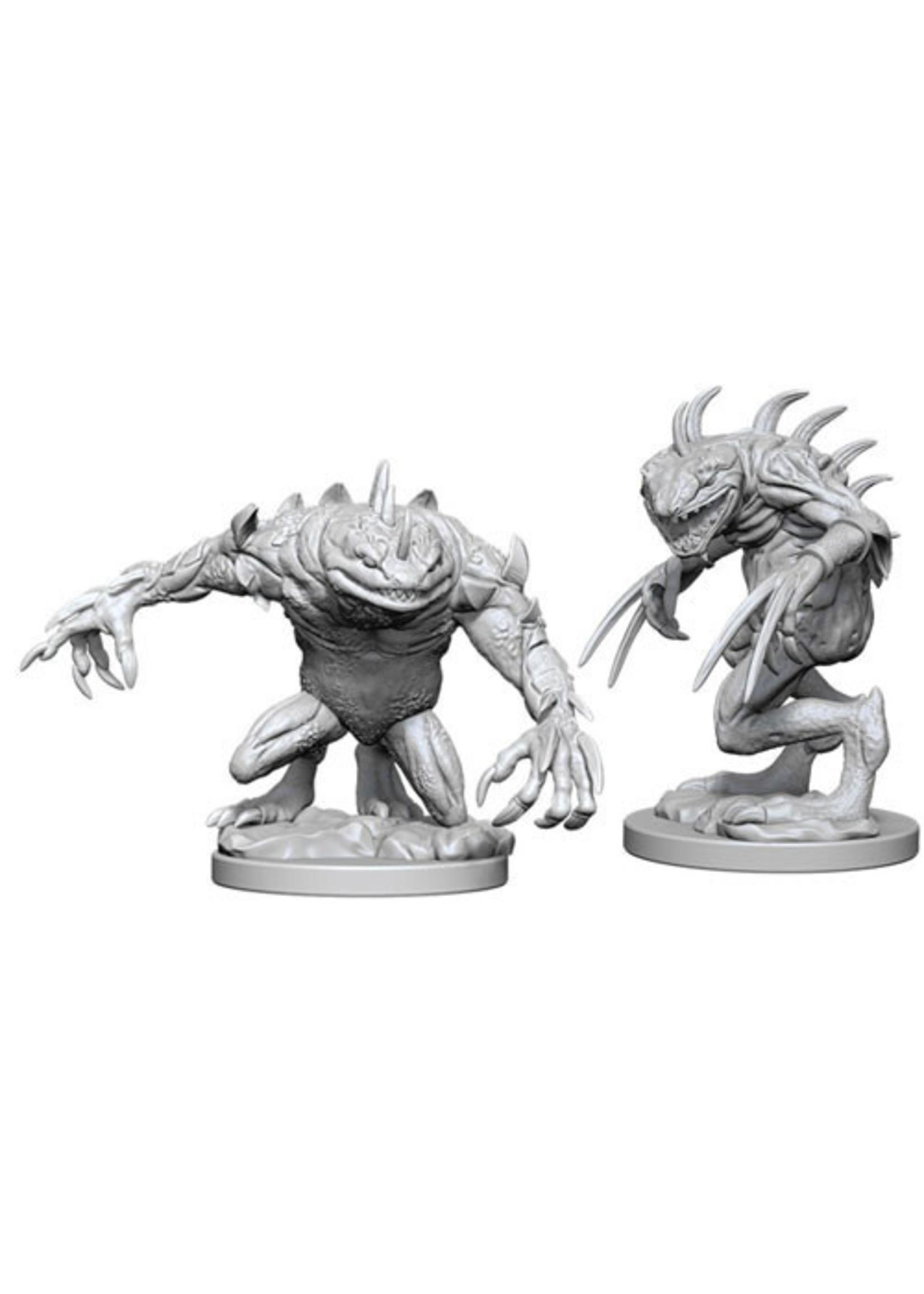 Dungeons & Dragons Nolzur`s Marvelous Unpainted Miniatures: W5 Grey Slaad & Death Slaad