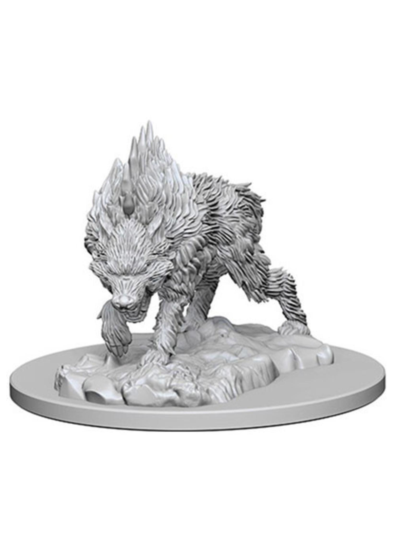 Pathfinder Deep Cuts Unpainted Miniatures: W4 Dire Wolf