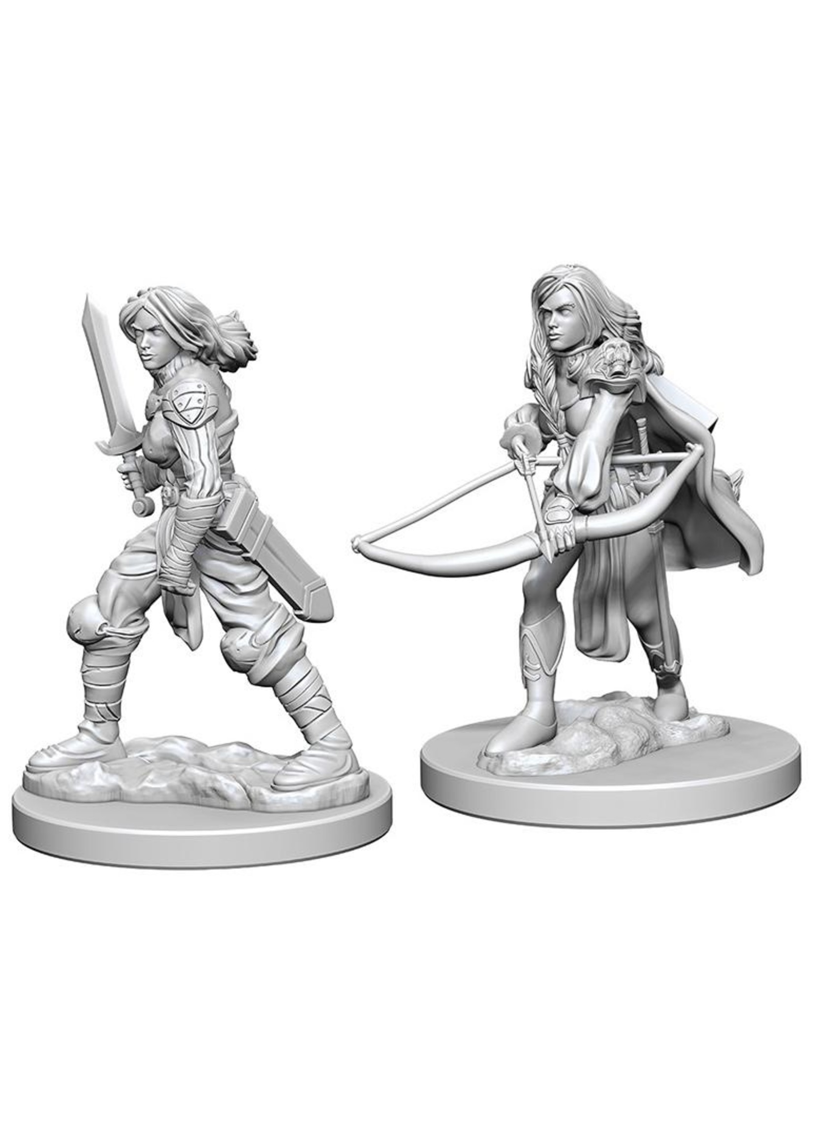 Pathfinder Deep Cuts Unpainted Miniatures: W1 Human Female Fighter