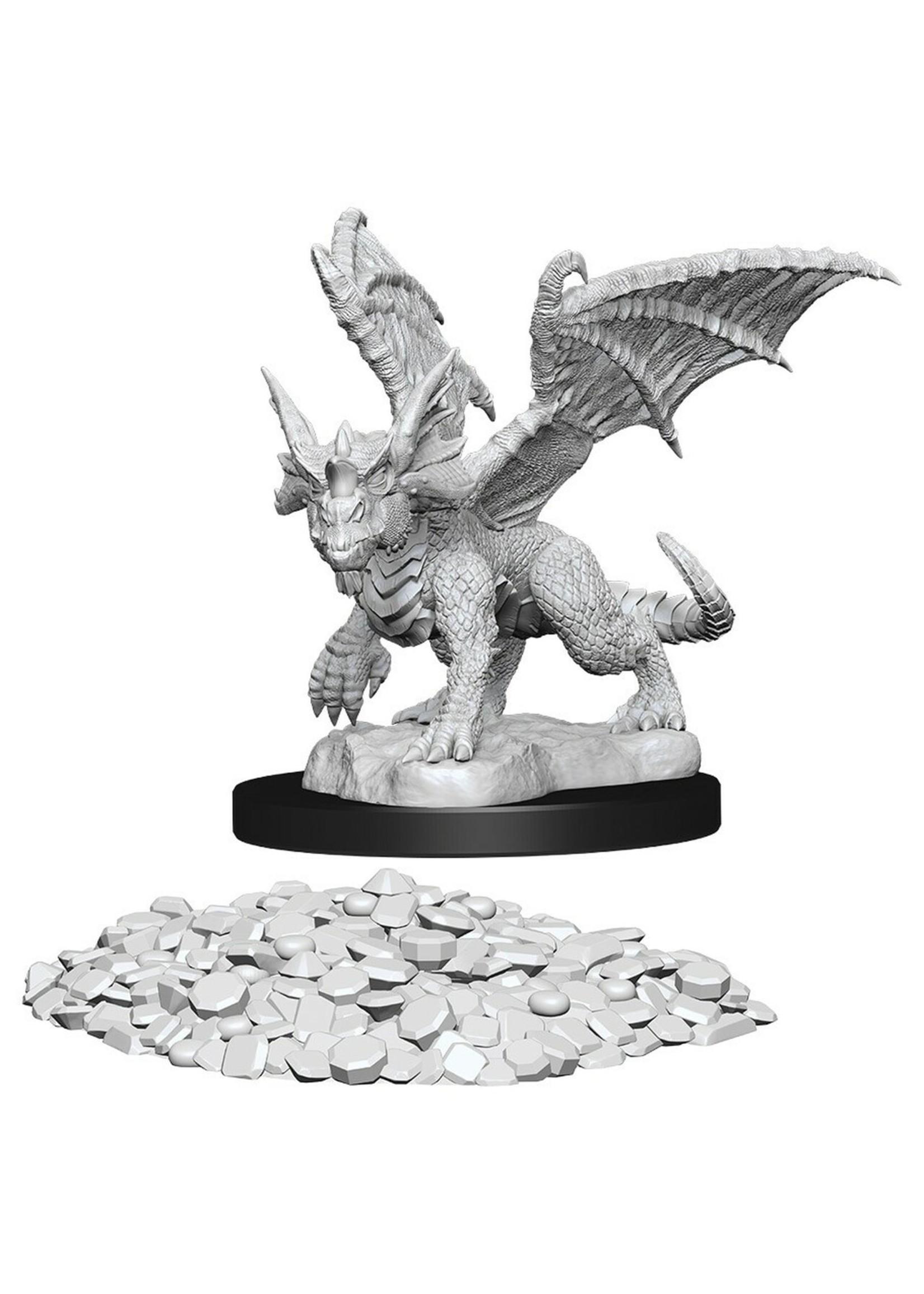 Dungeons & Dragons Nolzur`s Marvelous Unpainted Miniatures: W10 Blue Dragon Wyrmling