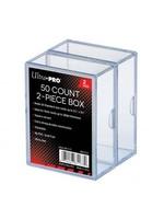 Clear Card Box 2 Piece (50)