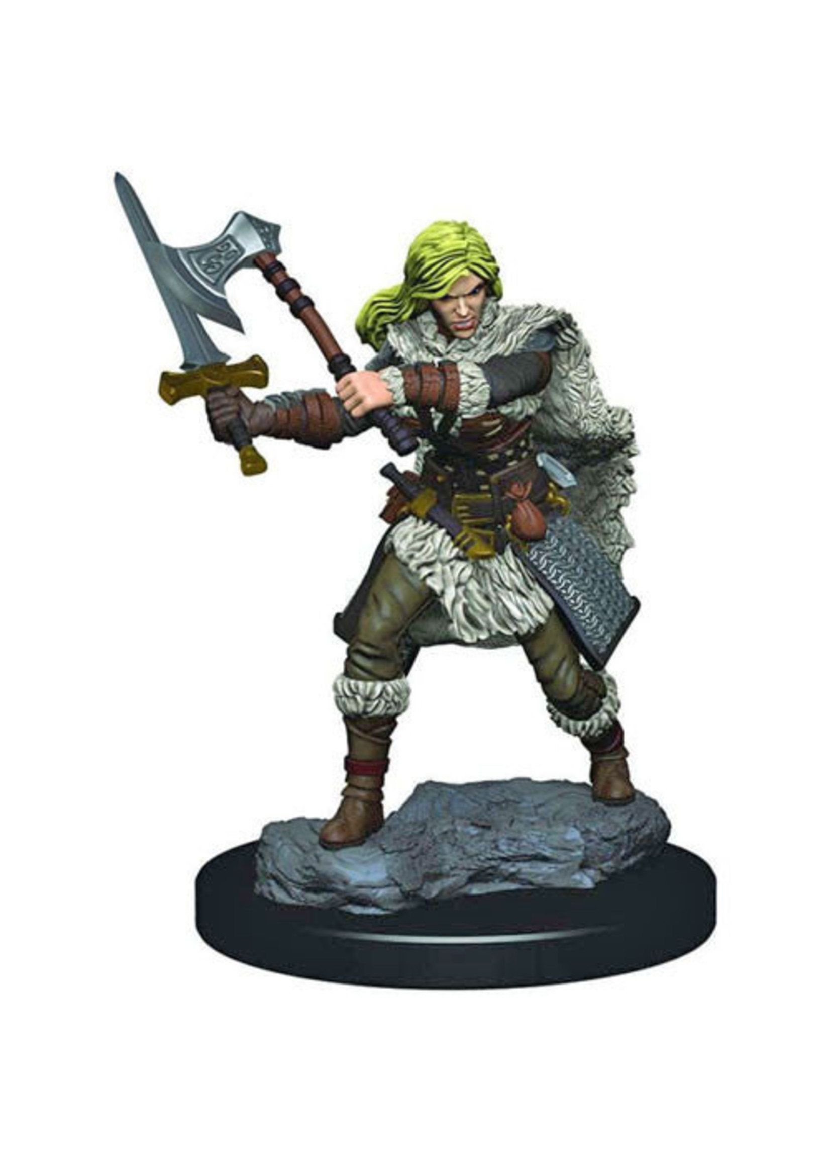 Dungeons & Dragons Fantasy Miniatures: Icons of the Realms Premium Figures Human Female Barbarian