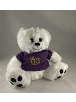 Queen's Gambit Games 8 1/2 Inch Big Paw Bear - White