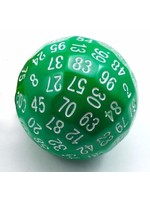 100 Sided Die - Translucent Green D100