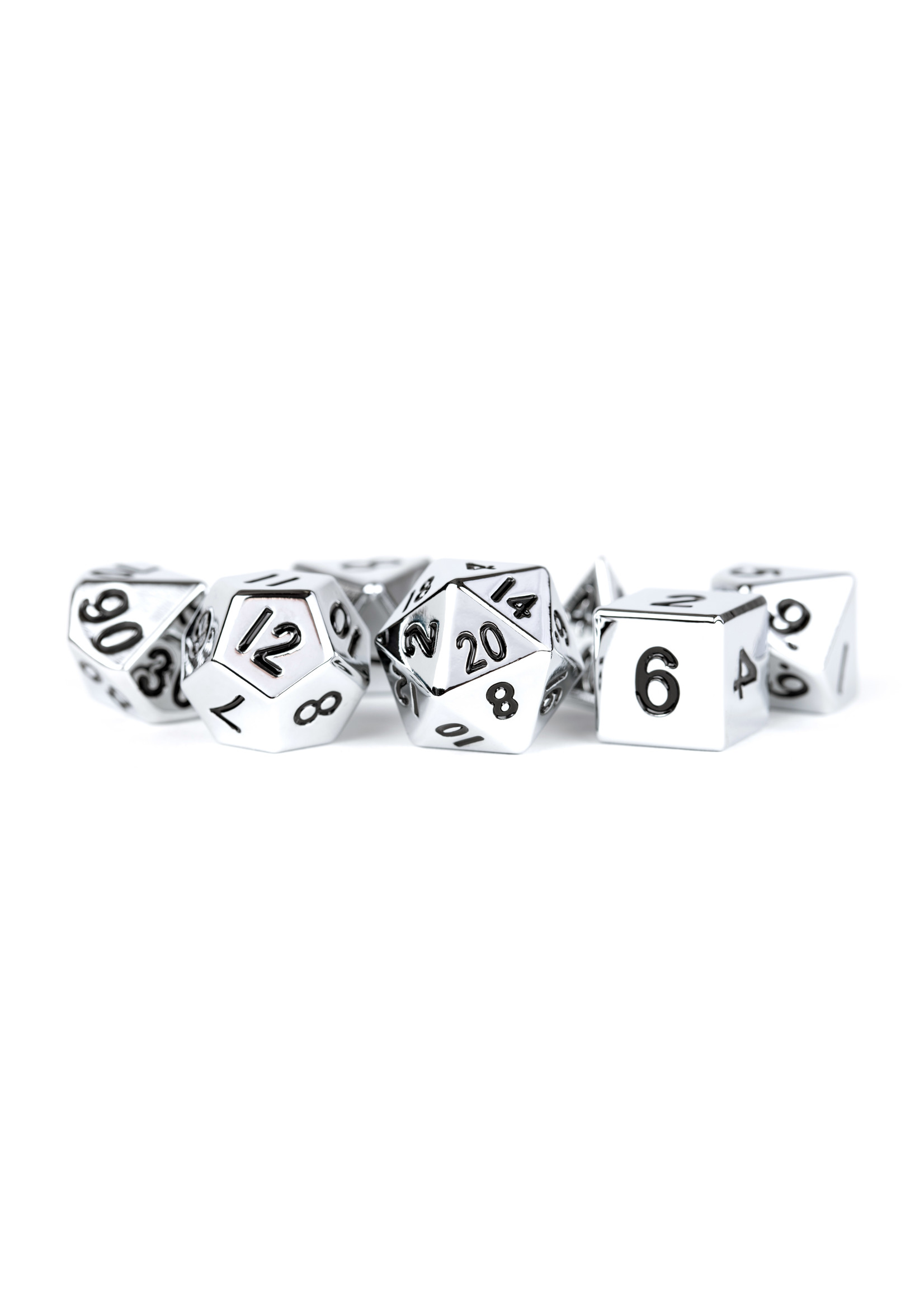 16mm Silver Metal Dice Set