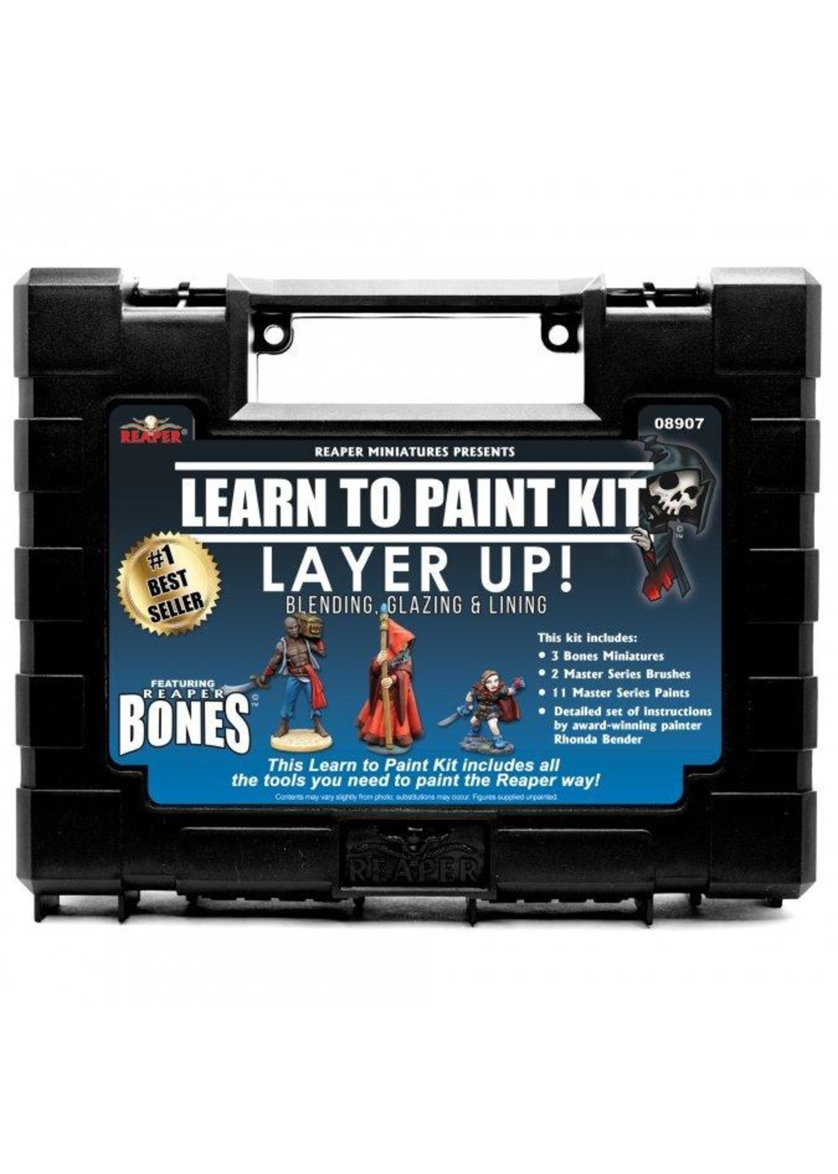 Learn to Paint Kit: Layer Up! - Base Coats, Layering, and Glazing (Bones)