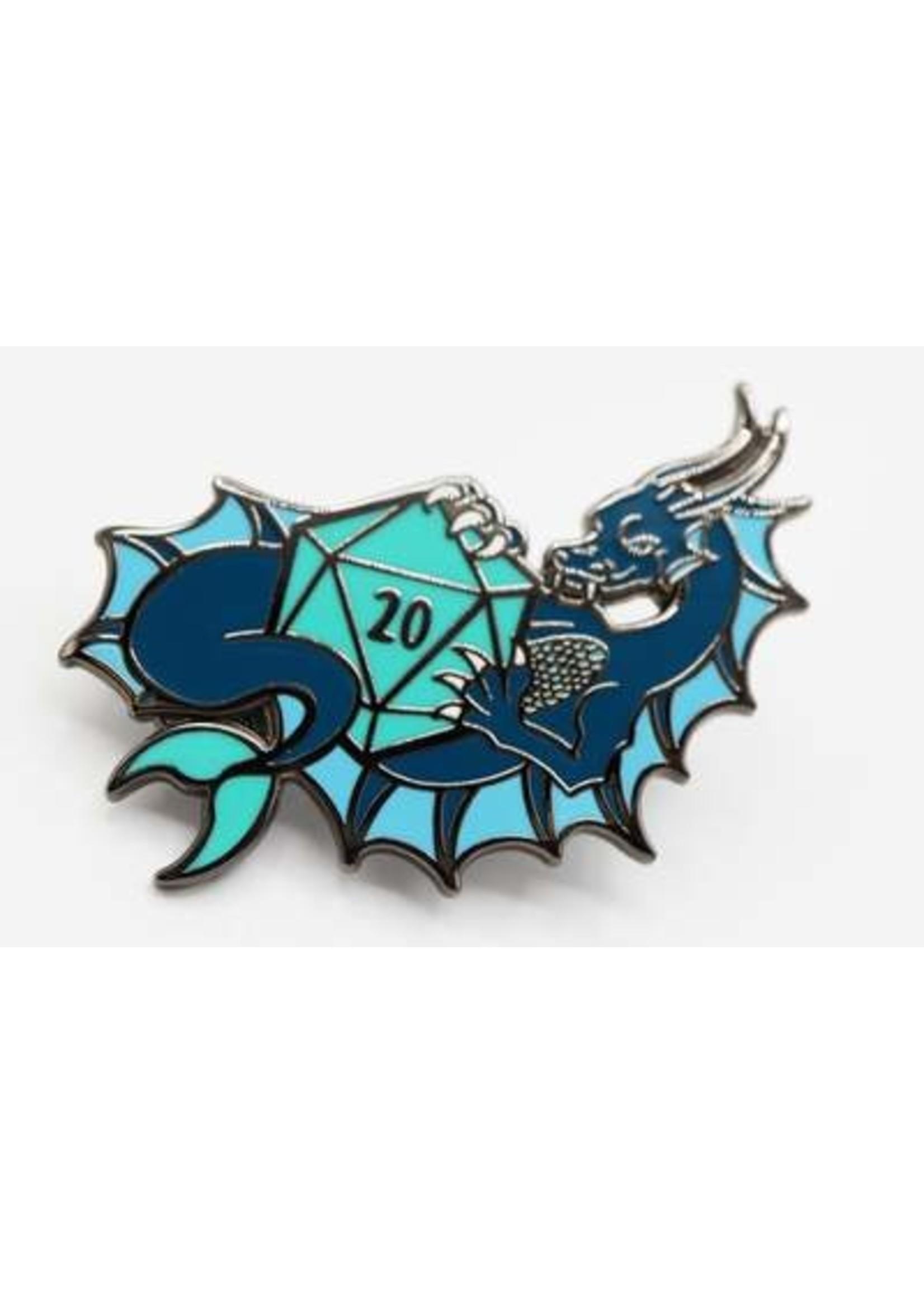 Dice Dragons Pin: Water