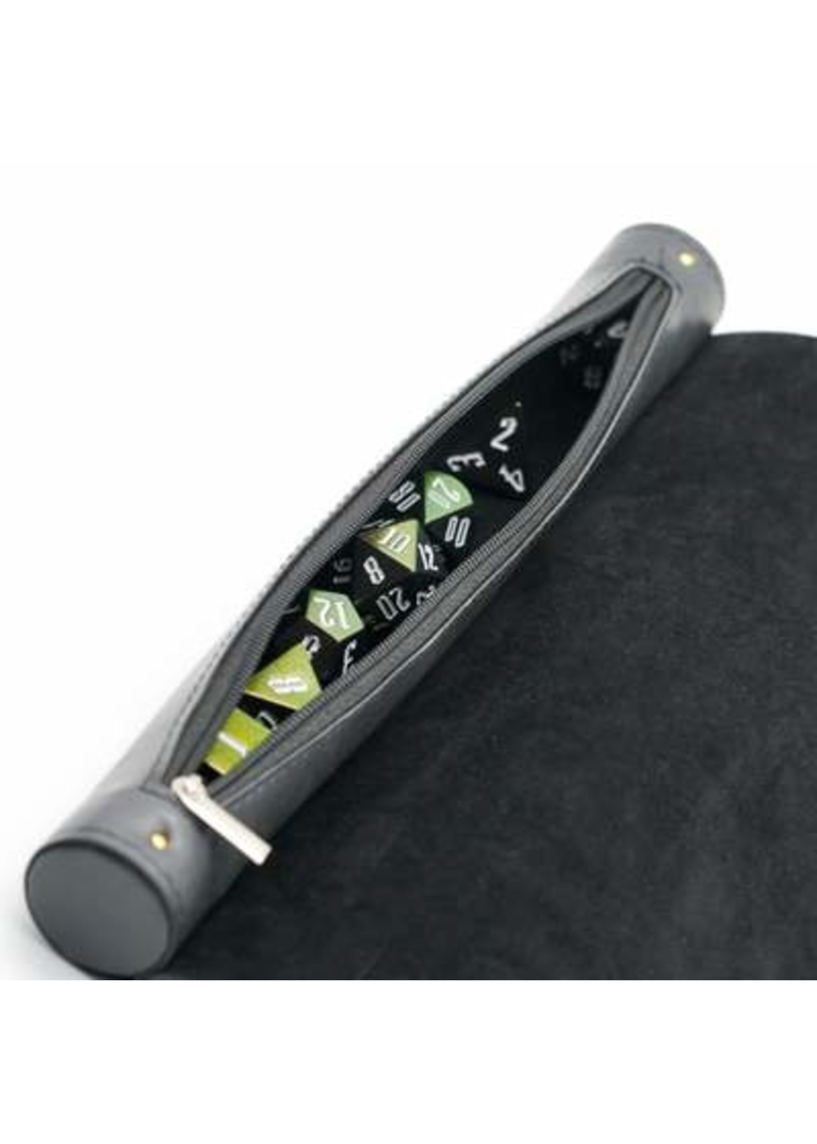 Black Roll Up Leatherette Dice Mat