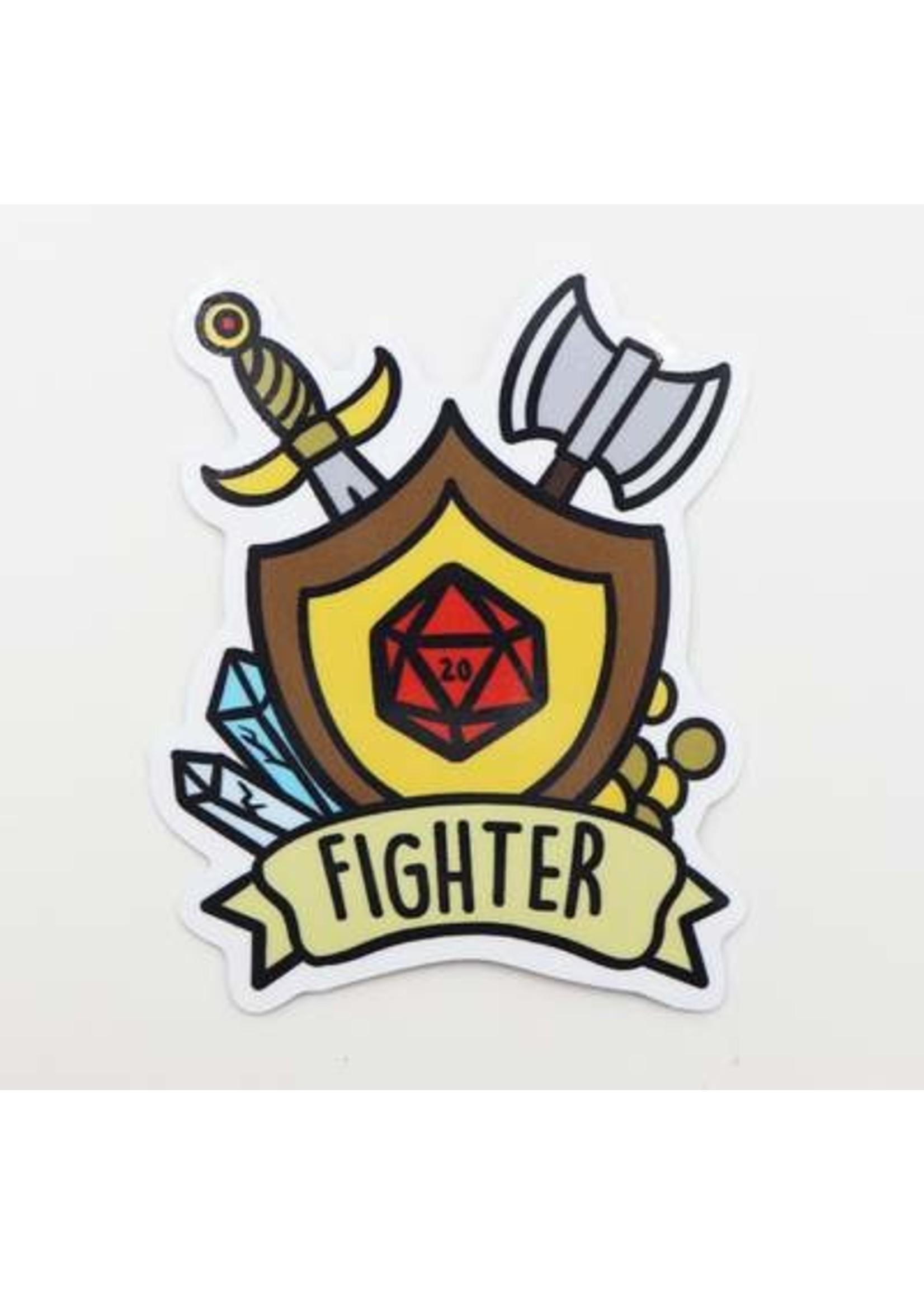 Banner Class Sticker: Fighter