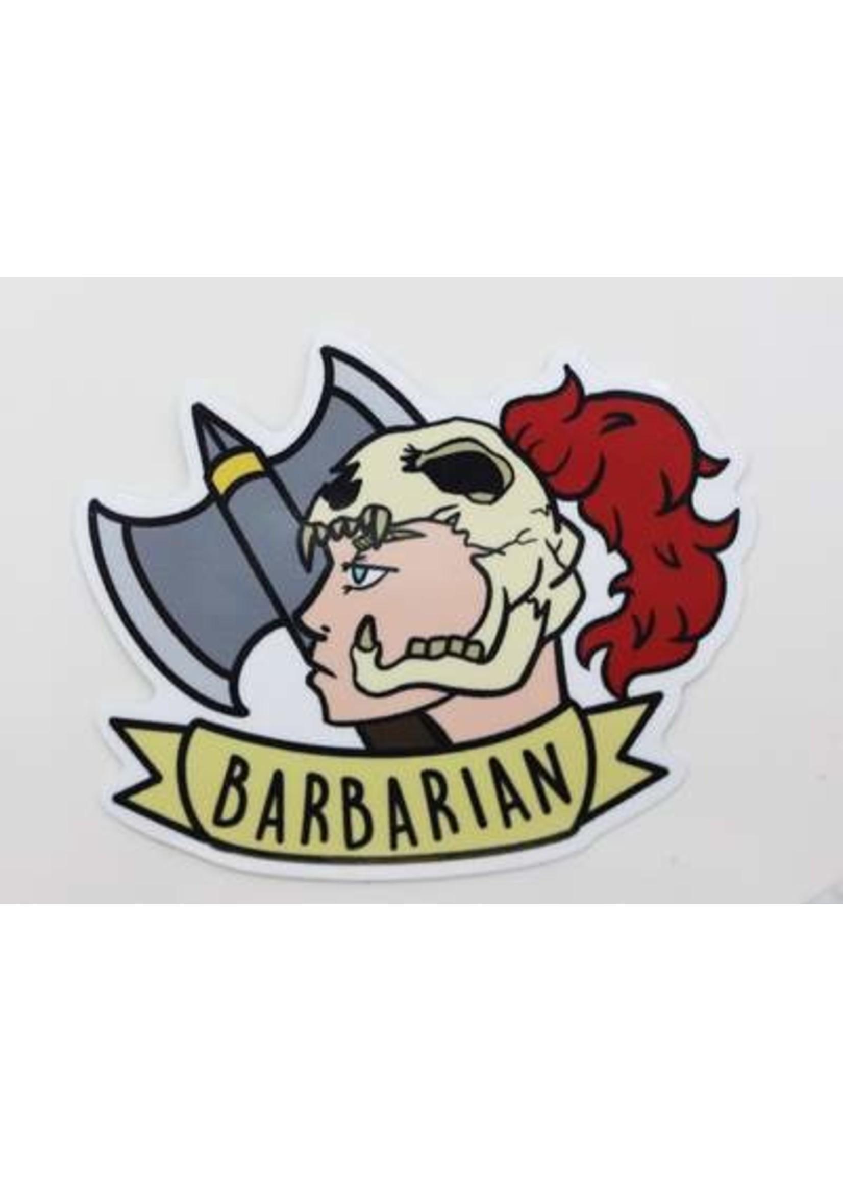 Banner Class Sticker: Barbarian