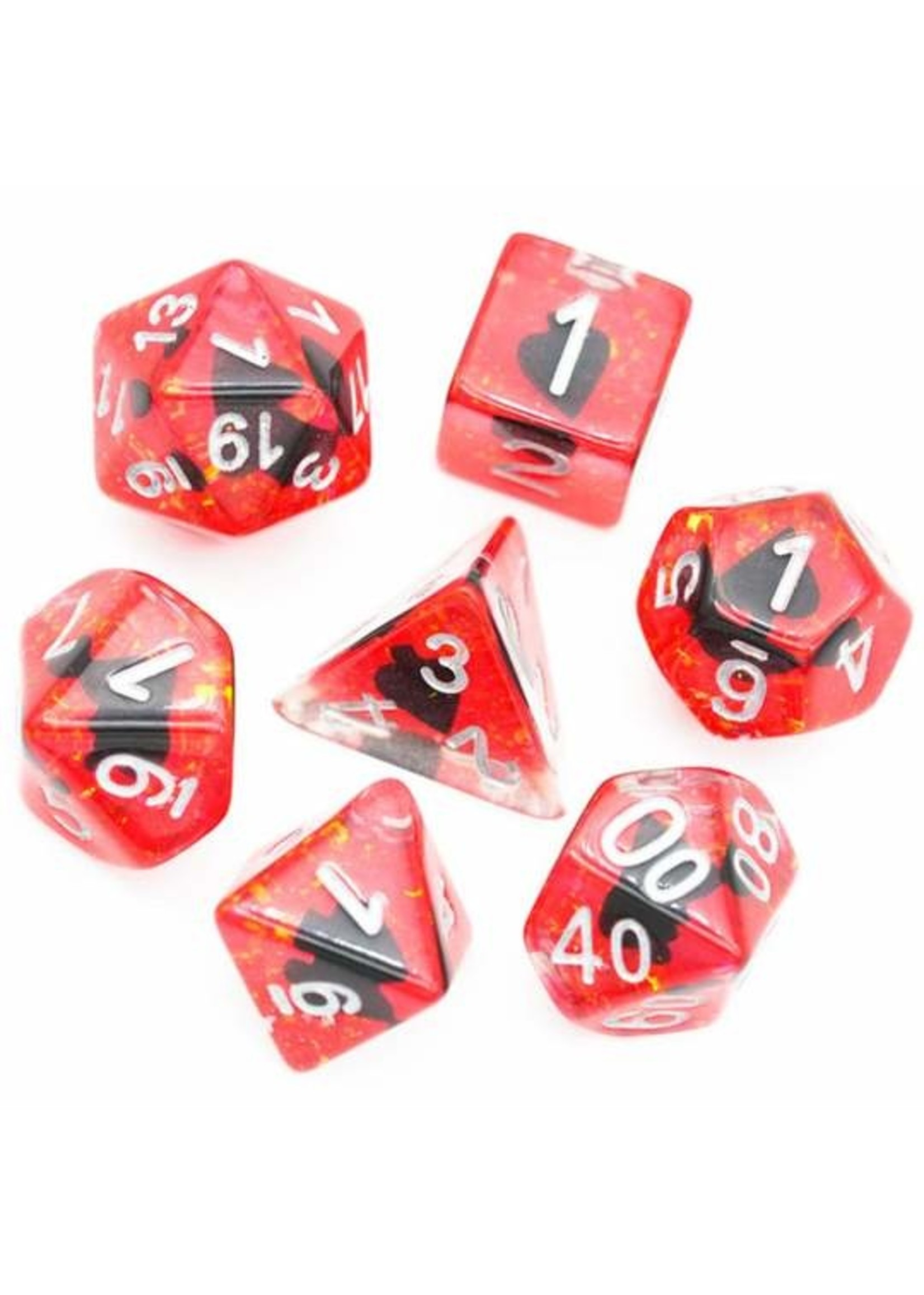 Suit of Dice: Spades RPG Dice Set
