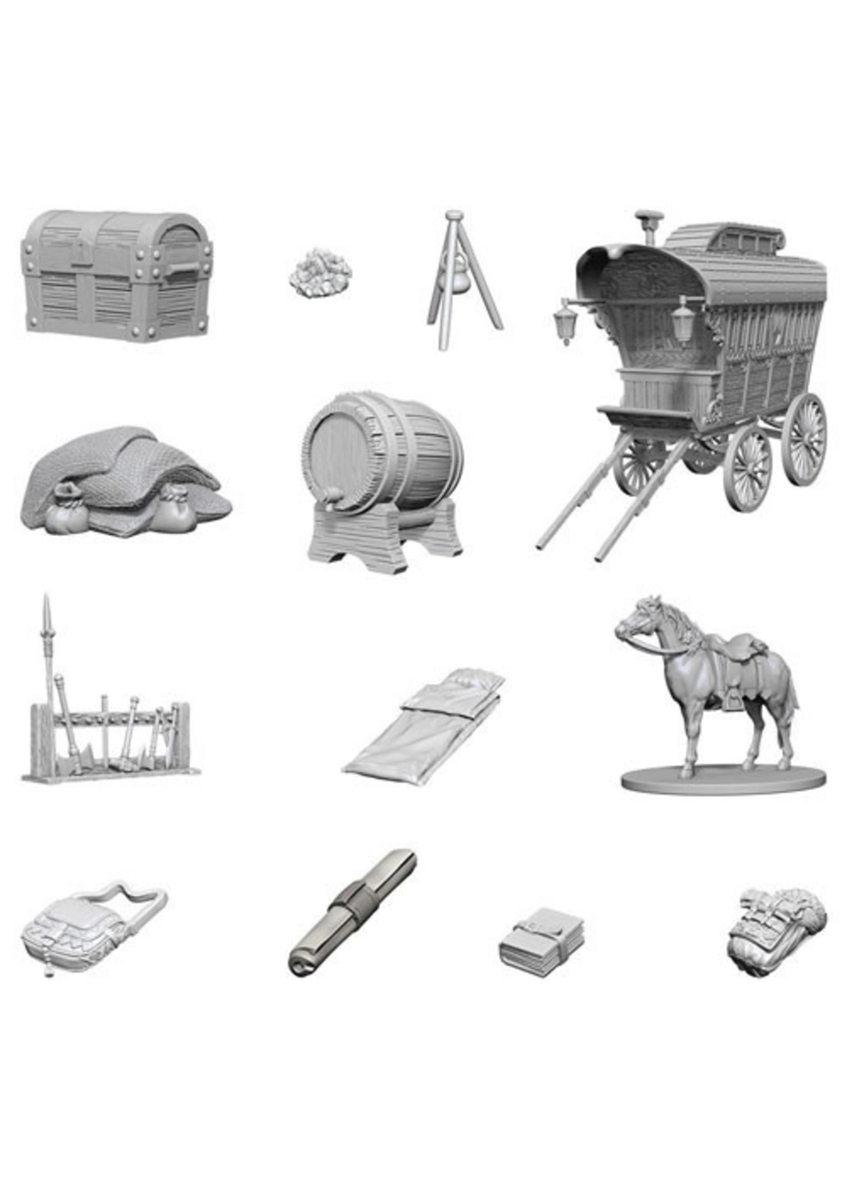 Dungeons & Dragons Nolzur`s Marvelous Unpainted Miniatures: W4 Adventurer`s Campsite
