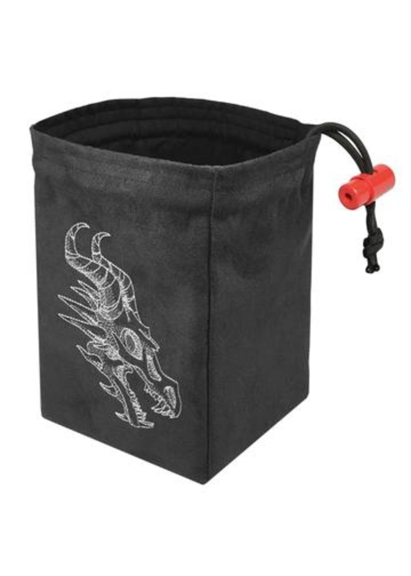Embroidered Dice Bag: Shadow Dragon Gray
