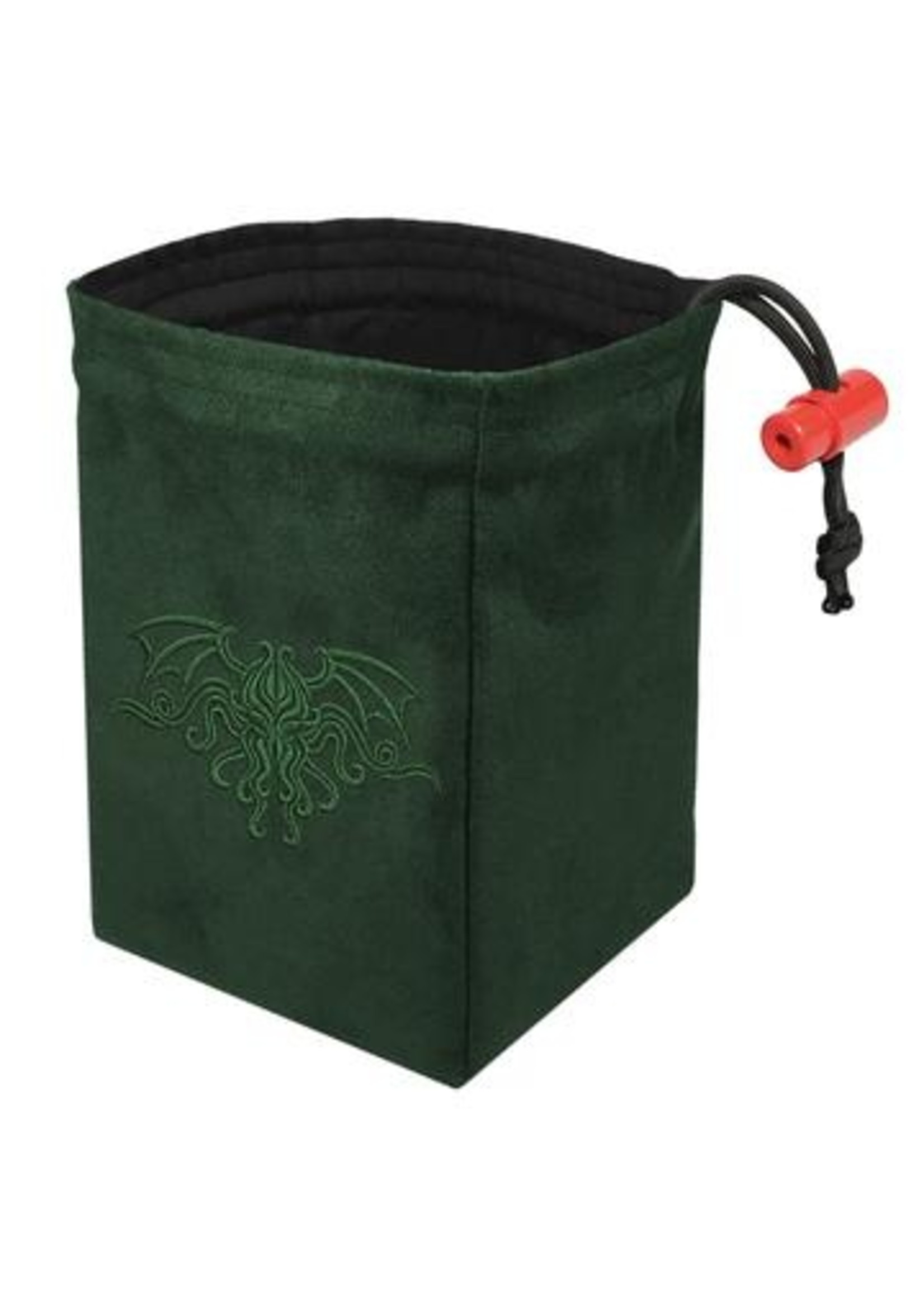 Embroidered Dice Bag: Cthulhu Crest Green
