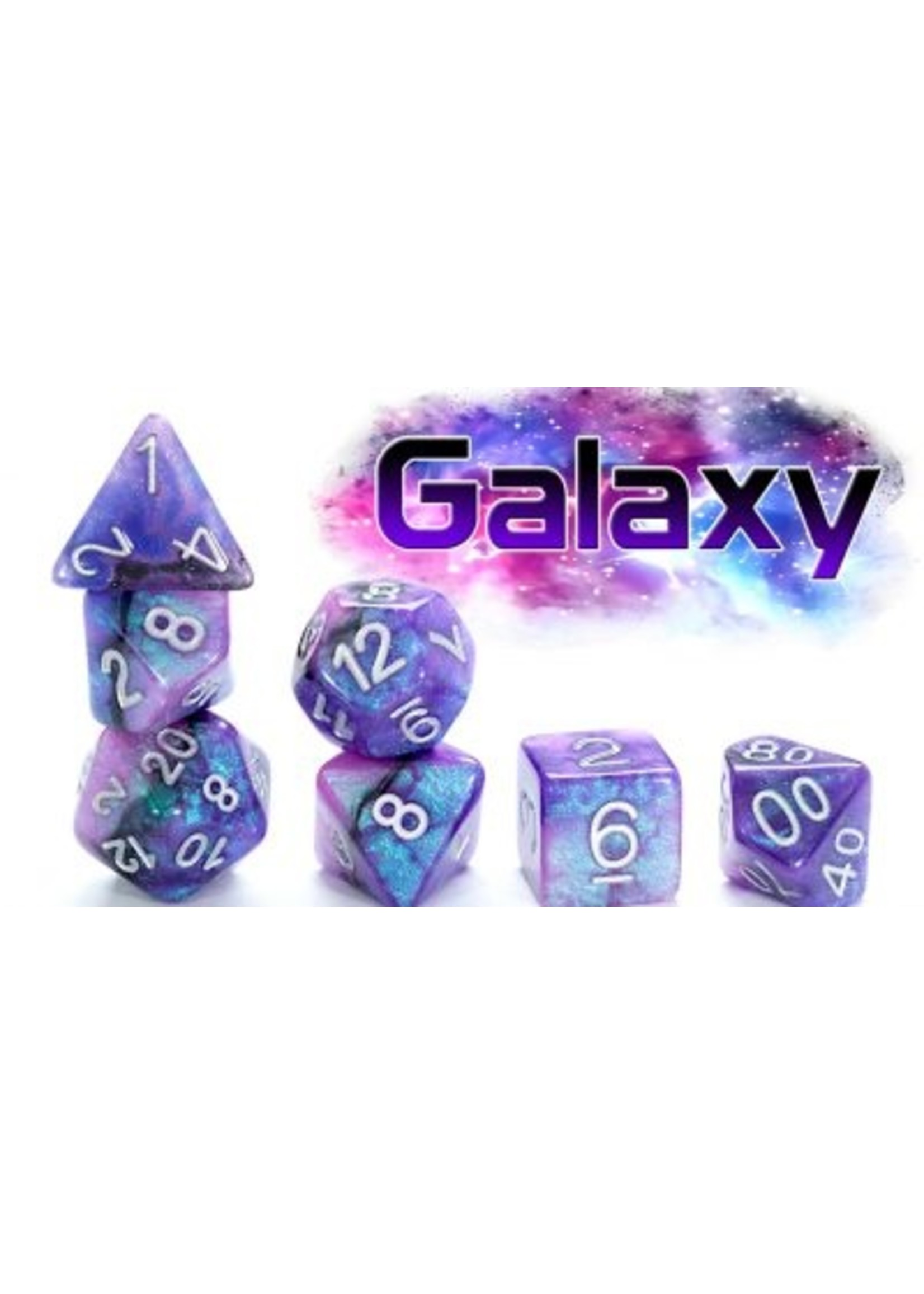 Aether Dice: Galaxy (7 Polyhedral Dice Set)