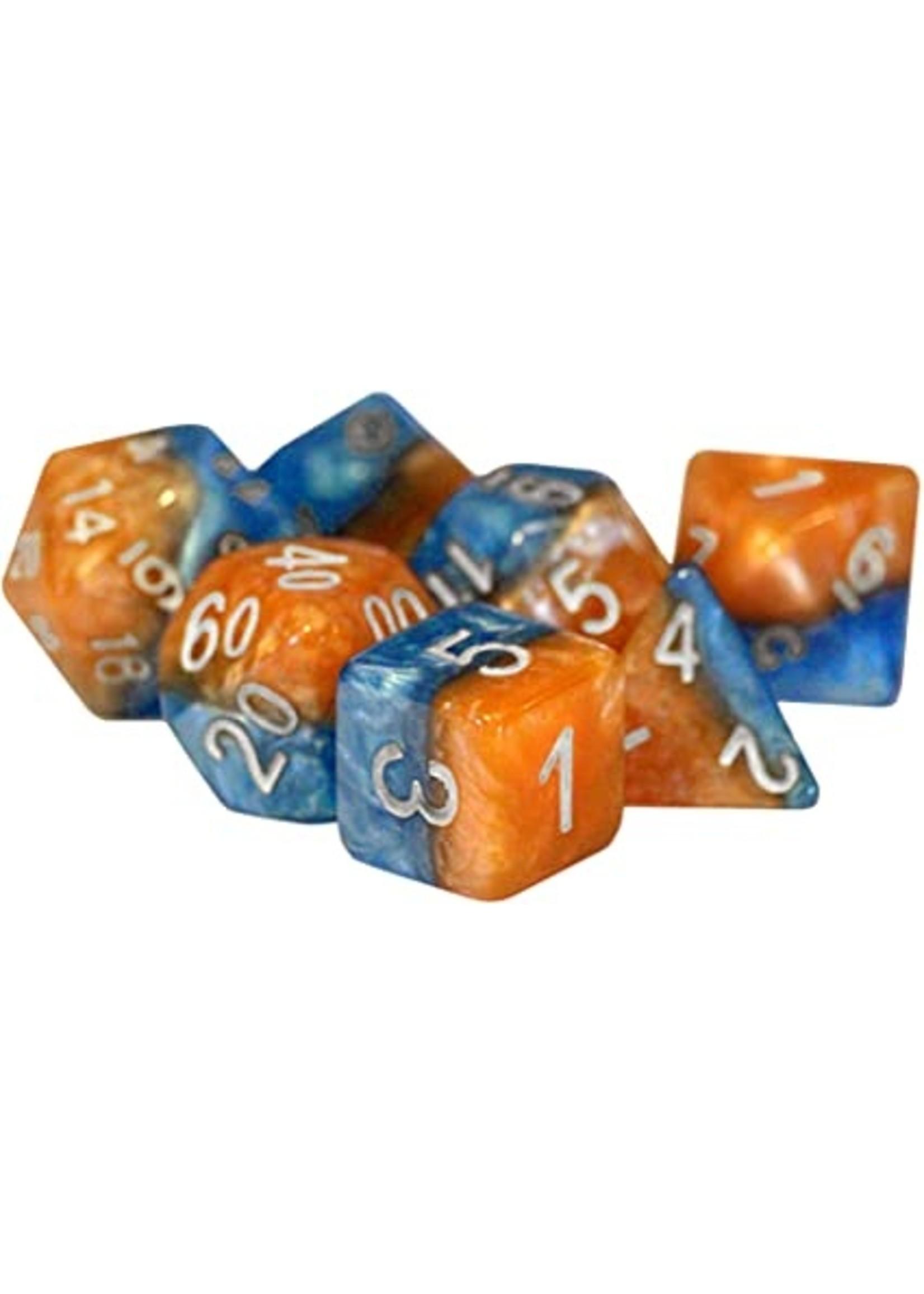 Halfsies Dice - Fire & Dice (7 Polyhedral Dice Set)