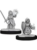 Pathfinder Deep Cuts Unpainted Miniatures: W14 Halfling Cleric Female