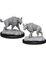 WizKids Deep Cuts Unpainted Miniatures: W14 Hyenas