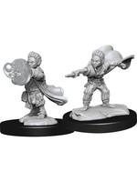 Pathfinder Deep Cuts Unpainted Miniatures: W14 Halfling Wizard Male