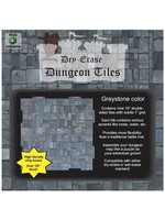 Dry Erase Dungeon Tiles: Graystone - Pack of 9 Ten Inch Squares