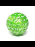100 Sided Die - Green Pearl D100